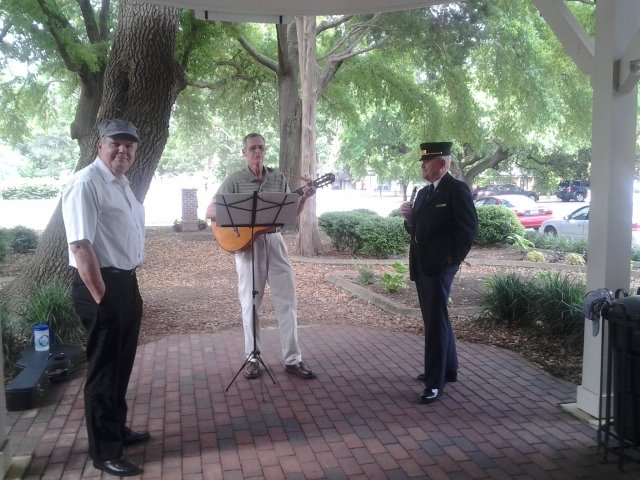 Storytelling by song at Aiken Visitor Center and Train Museum