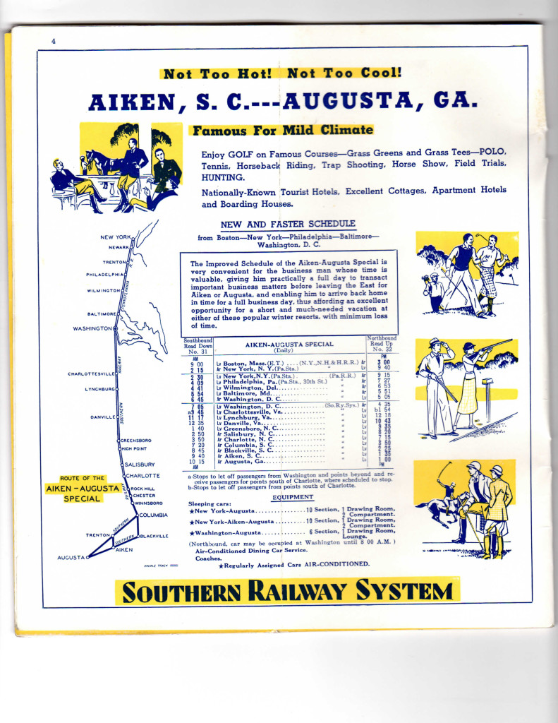 Southern Ry timetable March 1937-